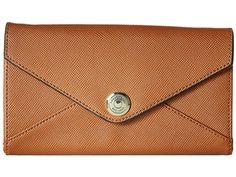 ロンドンフォグ マーカム テック ワレット 長財布 London Fog Markham Crossbody Tech Wallet コニャック 見せる財布