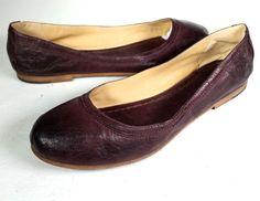 FRYE 8 FRYE CARSON BALLET FLATS CABERNET Leather Ballet Flats  *EXCELLENT* SZ 8 #Frye #BalletFlats