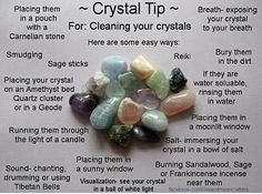Easy ways to cleanse your crystals