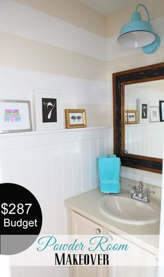 $287-Budget-Powder-room-Makeover another great accomplishment from Diane at inmyownstyle.com