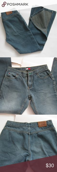 e78f0ec2633 Y2K 2000s Tommy Hilfiger split flare denim jeans Re-poshing this amazing  pair of jeans