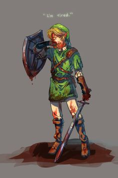 daw :c this made me sad..and yes Link...we all know you're tired but we'll lend you our strength