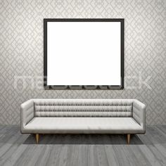 #3d #blank #picture #frame #sofa #stock #photo - ma3dstock.com