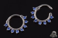 Eight gem septum clicker