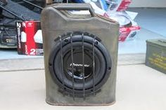 Jerry Can Subwoofer. This would be cool in a jeep wrangler. Ammo Cans, Jeep Mods, Jerry Can, Jeep Xj, Man Cave Garage, Jeep Wrangler Unlimited, Boombox, Jeep Life, Car Audio