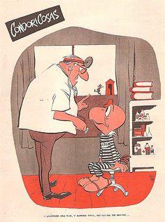 No salga de noche. Condorito. Chilean cartoon. Pepo.