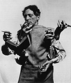 jean cocteau, philippe halsmann 1948