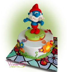 WonderCake (the new page) Character Cakes, Inspiration For Kids, Sugar Art, Edible Art, Amazing Cakes, Cupcake Cakes, Cupcakes, Smurfs, Cake Toppers