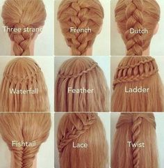Coiffure natte cheveux longs shared by It gives me a thrill Different Braids, Different Types Of Hairstyles, Types Of Braids, Braid Types, Braids With Color, Tips Belleza, About Hair, Hair Hacks, Hair Tips