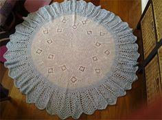 Crochet Baby Blanket Multi blue/white with blue border 130cm diameter | Frilly Daisy | madeit.com.au
