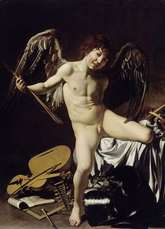 Cupid as winner from Caravaggio -