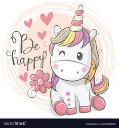 Cute Cartoon Unicorn with flower. Greeting Card with Cute Cartoon Unicorn with flower royalty free illustration Unicorn Drawing, Cartoon Unicorn, Unicorn Art, Cute Unicorn, Unicorn Images, Unicorn Pictures, Unicornios Wallpaper, Cartoon Wallpaper, Drawing Wallpaper