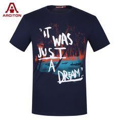 78546e87847d 100% Cotton Men T Shirt Printed Fashion Design T-Shirt Men Brand New Slim