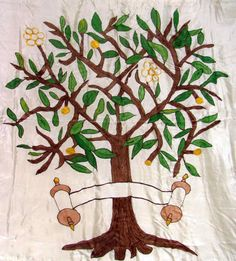 Classic Tree of Life Chuppah with 7 Species-Tree of Life #wedding, #jewish, #chuppah