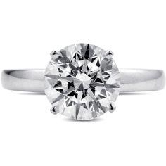 2.68 ct. Premier Diamond Collection Round Diamond Solitaire Ring (F, SI2)