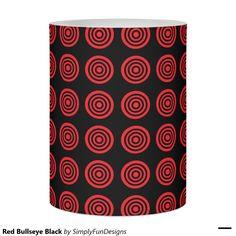 Red Bullseye Black Flameless Candle
