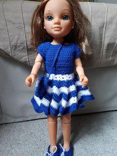 Manualidades a ganchillo de Laida: Nancy vestido estrella Crochet Doll Pattern, Crochet Dolls, Girls Dresses, Flower Girl Dresses, Summer Dresses, Vestidos Nancy, Barbie And Ken, Wedding Dresses, Patterns