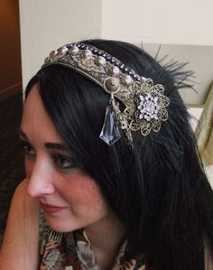 Tribal Fusion Belly Dance Headpiece Old Hollywood by siphonophoria, $65.00