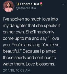 """lotrlocked: """"chevyfromthedistrict: """"Important things🥰 """" Good parenting. Building up Black Women. Parenting Done Right, Kids And Parenting, Parenting Hacks, Gentle Parenting, Affirmations, So Much Love, My Love, Education Positive, Art Education"""