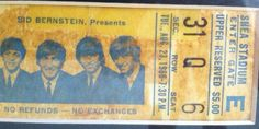 Fred's '66 Beatles Shea Stadium ticket