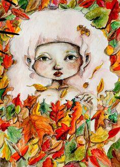 Emerging Autumn 11 x 15 Original Watercolor by ChristineWeeksArt, $65.00