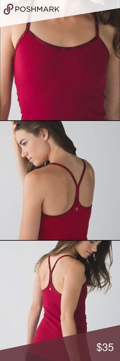 Lululemon Power Y  **OFFERS WELCOME** Beautiful cranberry color with snake skin trim. VGUC, size 4. Love this just too small for me now. lululemon athletica Other