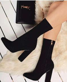 cheap sisihot women clothing and shoes dress tops plus size clothing sandals heels Fancy Shoes, Cute Shoes, Me Too Shoes, High Heel Boots, Heeled Boots, Shoe Boots, Sock Shoes, Sock Boots Outfit, Boot Heels