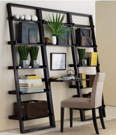 Home interior design ideas images 2019 . home interior design ideas Leaning Bookshelf, Leaning Desk, Bookshelf Desk, Wall Desk, Office Bookshelves, Creative Bookshelves, Bookcases, Bookshelves For Small Spaces, Leaning Ladder