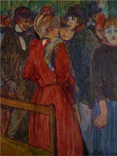 At the Moulin de la Galette - Henri de Toulouse-Lautrec 1891