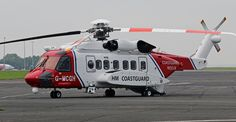 G-MCGH SIKORSKY S-92 HM COASTGUARD NEWCASTLE AIRPORT