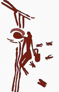 Μεσολιθική εποχή, ζωγραφική σε βράχο, κυνηγός συγκομιδή από μέλι και κερί από μια φωλιά μελισσών σε ένα δέντρο. Στο Cuevas de la Araña en Bicorp. (Χρονολογείται περίπου 8.000-6.000 π.Χ.) Πηγή: Eva Crane.The world History of Beekeeping and honey hunding - See more at: http://waxcreations.gr/paragwgos.html#sthash.KEAJdDXA.dpuf