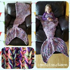 Candy Sprinkles large child size mermaid tail blanket