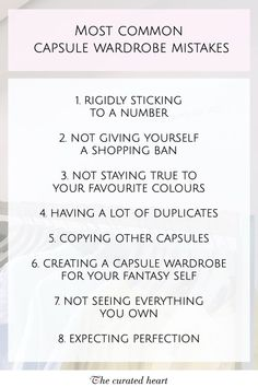 I love my capsule wardrobe! It helped me simplify my life, discover my style, improve my shopping habits and realise to stop caring about what other people think about my outfits. But, as with everything, there is a bit of a learning curve, and I definitely did my fair share of mistakes when curating my wardrobe. So I created a list of the most common mistakes and tips on how to prevent them #minimalism #capsulewardrobe #capsulewardrobemistakes #minimalistcloset #stylemistakes Wardrobe Organisation, Organization Hacks, Organizing, Wardrobe Closet, Capsule Wardrobe, Slim Hangers, Declutter Bedroom, Minimalist Closet, Minimal Wardrobe