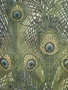 arthur silver peacock fabric