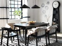 Dining tables | Kitchen tables | Dining chairs | Dishes | Bowls | IKEA - those quilted chair covers are so cute!