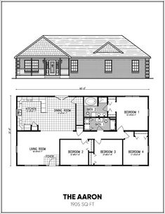 Ranch Style Floor Plans House Modular Home Bedroom