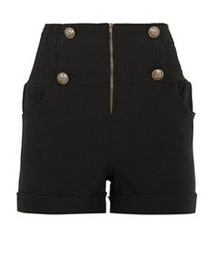 Black (Black) Urban Bliss Black Military High Waisted Shorts  | 281968401 | New Look