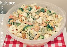 The Stauffer Shenanigans: kick ace pasta salad recipe