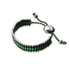 Links of London Friendship Bracelet black and green #jewelryforsale