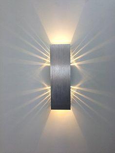 "SpiceLED®-Wandleuchte ""ShineLED-6"" 2x3W warmweiß Wandlampe Leuchte LED Effekt: Amazon.de: Beleuchtung"