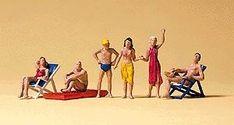Recreation & Sports Beachgoers 3 Sitting, 3 Standing - HO-Scale (6) HOBBYLINIC-$21.00