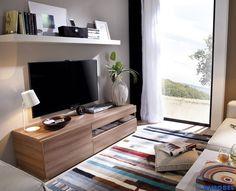 DUO 59. Con un módulo tv y una estantería, creas un salón idóneo para pasar momentos juntos