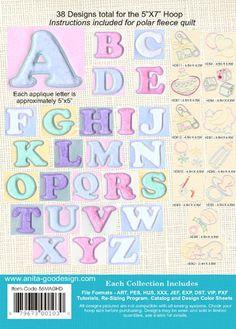 Quilted Baby Alphabet | Anita Goodesign $40