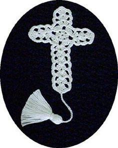 Cross bookmark crochet