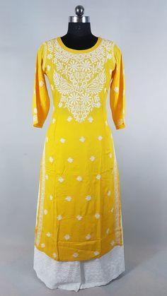 Yellow in its best in Rayon Chikankari with handle needle embroidery Anarkali, Saree, Plazzo Suits, Personal Shopping, Neck Pattern, Punjabi Suits, Kurtis, Salwar Kameez, Krishna