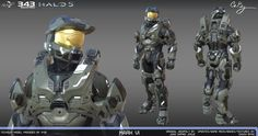 Mark VI armor for Halo Guardians. I adjusted the highpoly, and proceeded to do the lowpoly, bakes, color masks, and female… Halo 3 Odst, Halo 5, Halo Armor, Halo Spartan, Halo Game, Game Textures, Sci Fi Armor, Future Soldier, Video Game Characters