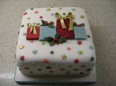 Christmas present cake by Stacey's Cakes, via Flickr