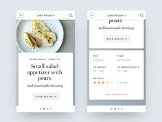 This is a mobile version of a recipes app I designed 3 months ago. I share a couble more screens during this week.
