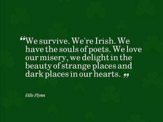 We are Irish.