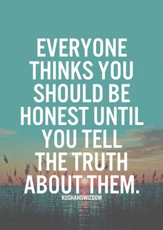 The truth about honesty.